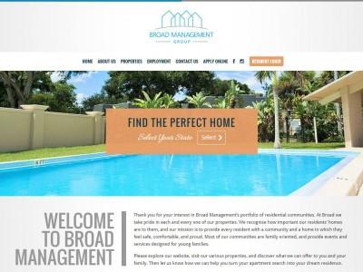 Broad Management website