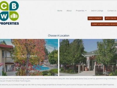 CBW Properties website