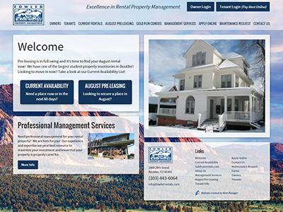 Fowler Property Management website