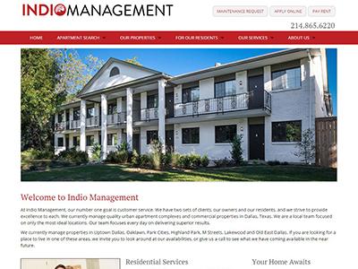 Indio Management website