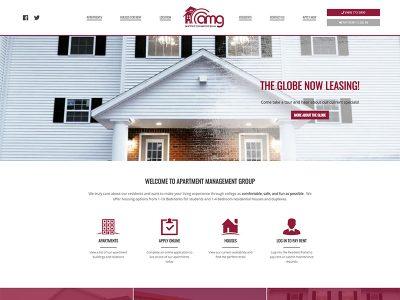 AMG Website Screenshot