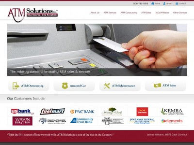 ATM Solutions website