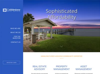 Cobblestone Custom Website Screenshot
