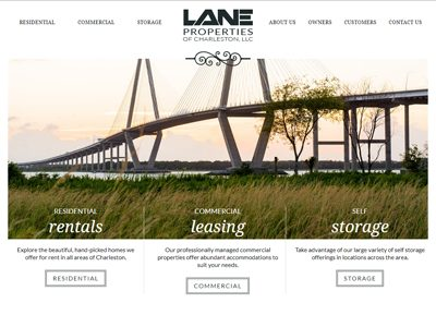 Lane Properties Website Screenshot