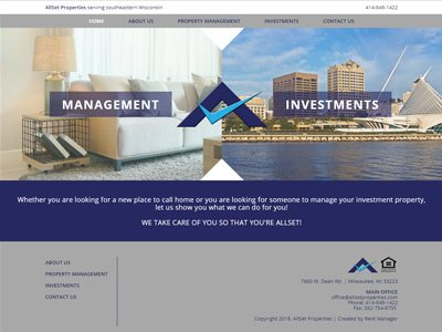 AllSet Property Management Custom Website Screenshot