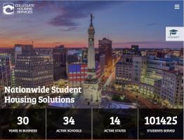 Collegiate Housing Website Example