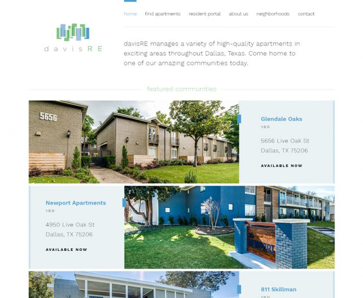 DavisRE Rental Website