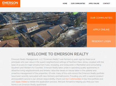 Emerson Realty Management, LLC Website Example