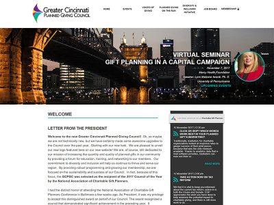 GCPGC Custom Website Screenshot