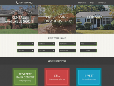 Joiner & Associates Realtors, Inc. Website Example