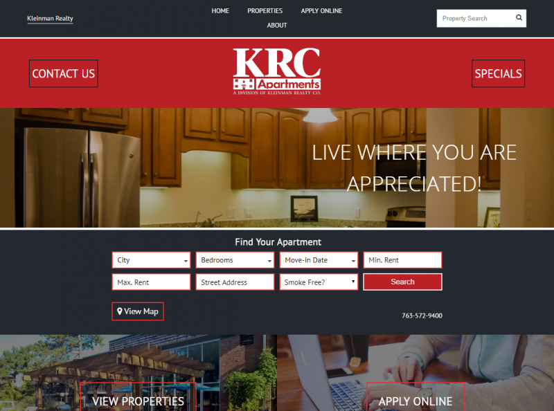 Kleinman Realty Website Example