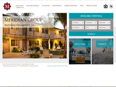 Meridian Group Website Screenshot