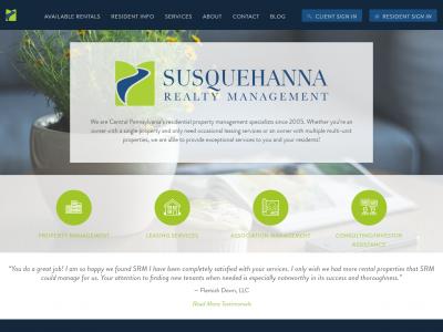 Susquehanna Realty Management Website Example