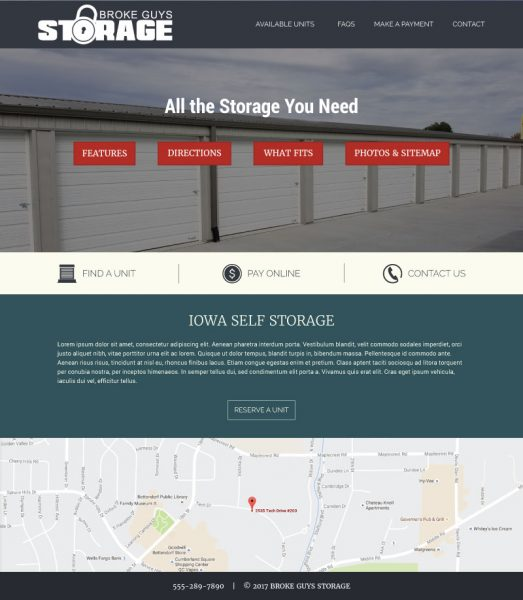 Broke Guys Storage Website Example